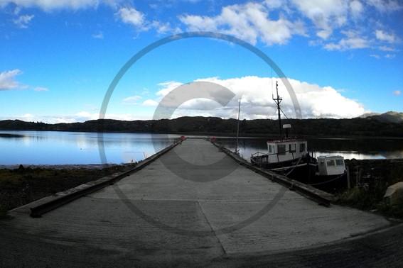 carte postale lac